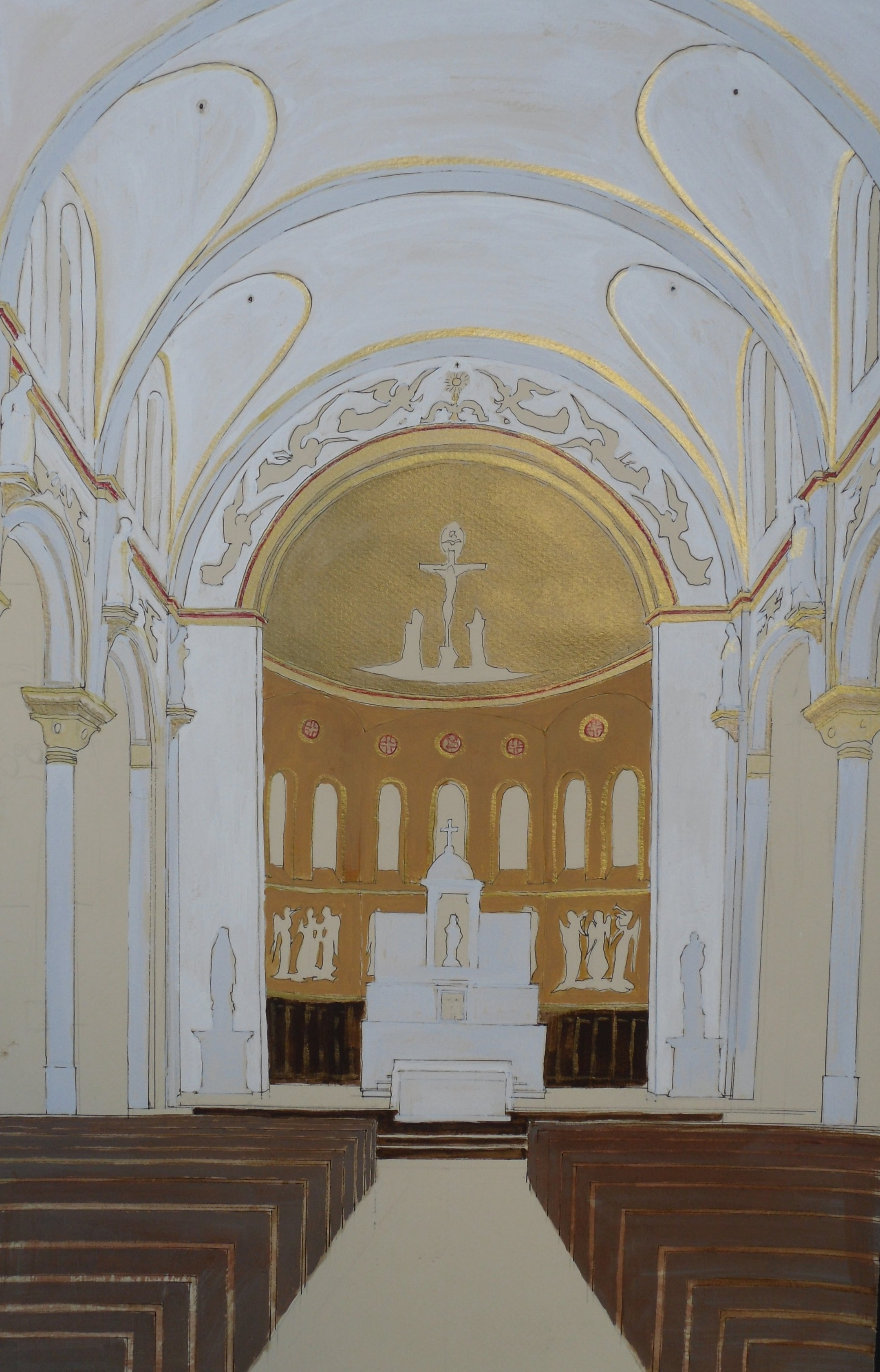 Saint Cecilia Drawing