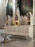 Reredos and paintings by Laudate Sacred Art, Saint John the Baptist Church, Peabody, Massachusetts