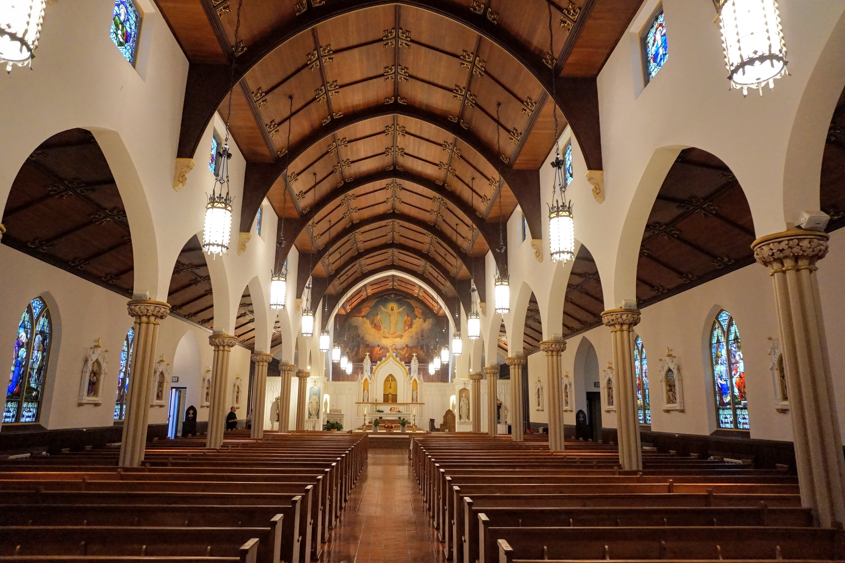 Interior of Sts. Aedan and Brendan Church, New Haven, CT
